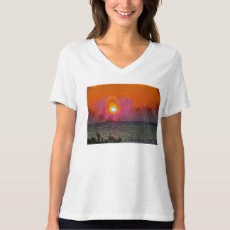 Iluminando uma baliza camiseta