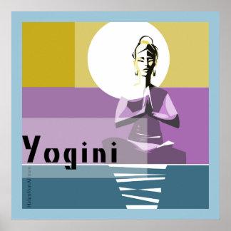 ilumine a mulher, postura da ioga pôster
