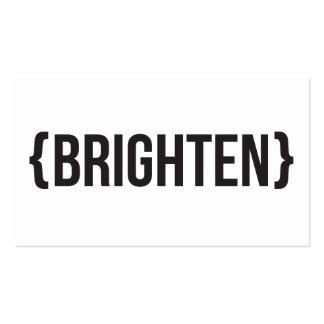 Ilumine - suportado - preto e branco cartões de visitas