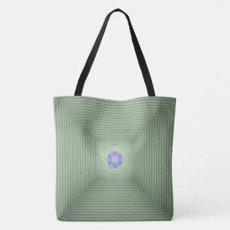 Ilusão 3D óptica verde rara legal Bolsa Tote