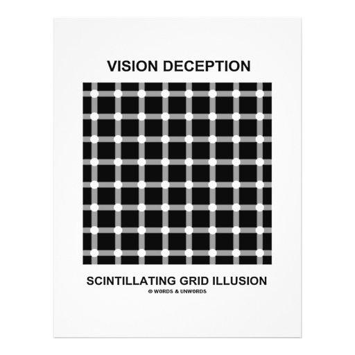 Ilusão cintilando da grade da decepção da visão panfletos personalizados