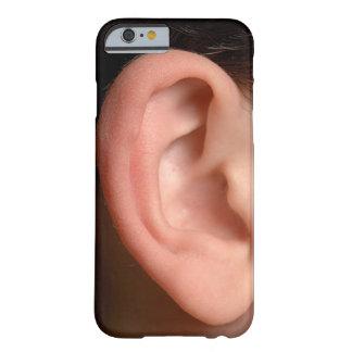 Ilusão direita cómico da foto da orelha da piada capa barely there para iPhone 6