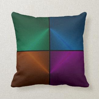 Ilusão do cetim em azul, em verde, em roxo, e o almofada