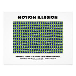 Ilusão do movimento ilusão óptica panfletos