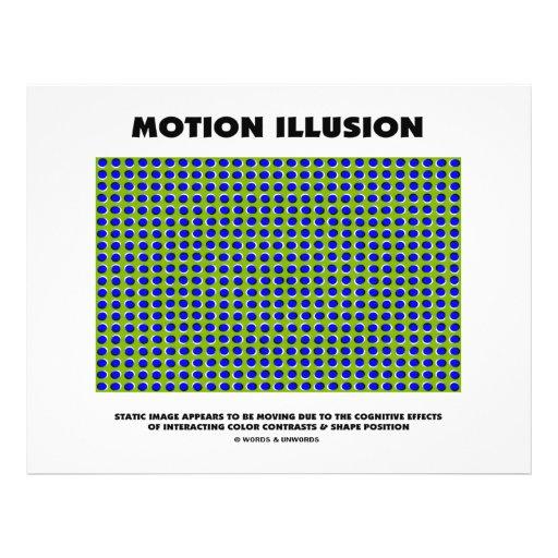 Ilusão do movimento (ilusão óptica) panfletos