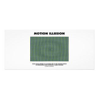Ilusão do movimento (ilusão óptica) modelos de panfletos informativos