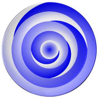 Ilusão espiral azul por Kenneth Yoncich Louça De Jantar