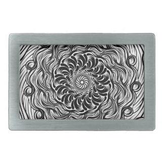 Ilusão óptica do Doodle ornamentado do zen preto e