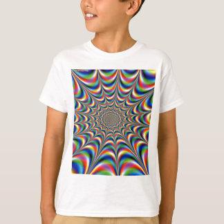 ilusão throbbing-fractal-óptica camiseta