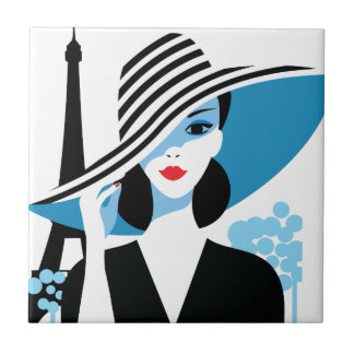 Ilustração à moda francesa do chique da forma da azulejo quadrado pequeno