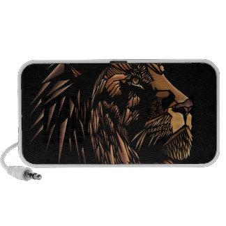 Ilustração abstrata do leão