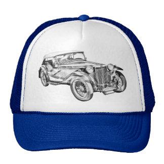 Ilustração antiga do carro de esportes do magnésio bone