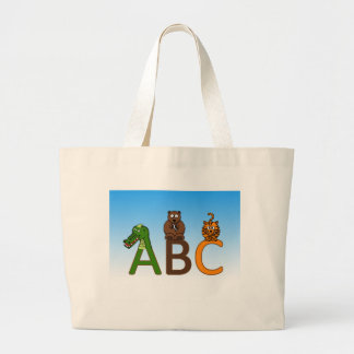 Ilustração bonito dos animais dos desenhos bolsas