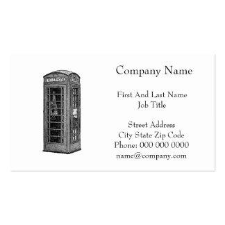 Ilustração britânica preto e branco da caixa de cartão de visita