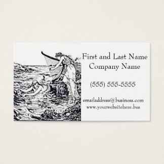 Ilustração celta do conto de fadas da sereia cartão de visitas