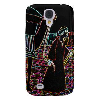 Ilustração colorida do esboço do camelo e do árabe galaxy s4 cover