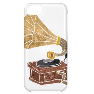 ilustração com gramofone capa para iPhone 5C