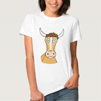Ilustração confusa engraçada dos desenhos animados camisetas