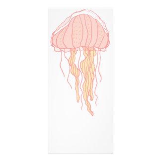 Ilustração cor-de-rosa coral das medusa 10.16 x 22.86cm panfleto