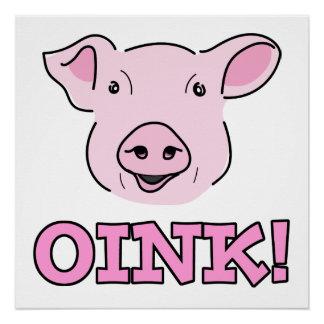 Ilustração cor-de-rosa de sorriso bonito da cara poster perfeito