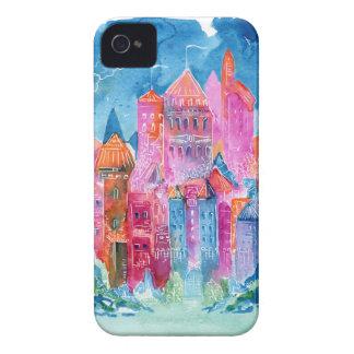 Ilustração da aguarela da fantasia do castelo do capa para iPhone