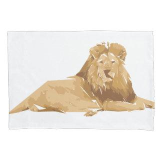 Ilustração da arte do polígono do leão