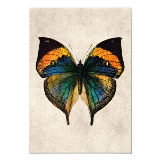 Ilustração da borboleta do vintage - borboletas convite 8.89 x 12.7cm