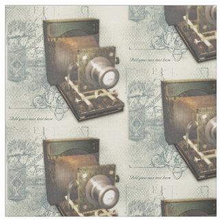 Ilustração da câmera da fotografia do vintage tecido