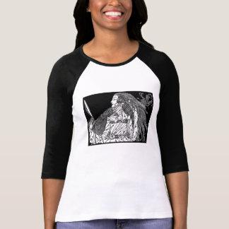 Ilustração da camisa da beleza. arte do dominio t-shirts