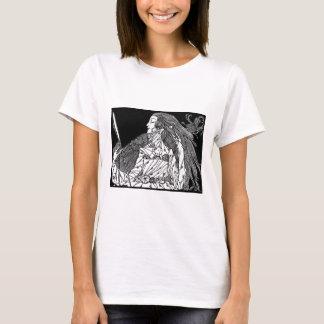 Ilustração da camisa da beleza. arte do dominio tshirts