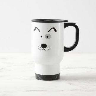 Ilustração da cara do cão dos desenhos animados caneca térmica