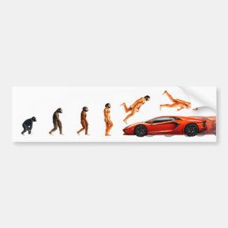 Ilustração da evolução humana e dos carros adesivo para carro