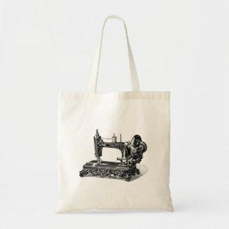 Ilustração da máquina de costura dos 1800s do bolsa tote