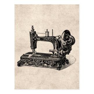 Ilustração da máquina de costura dos 1800s do cartão postal