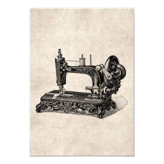 Ilustração da máquina de costura dos 1800s do convite 8.89 x 12.7cm