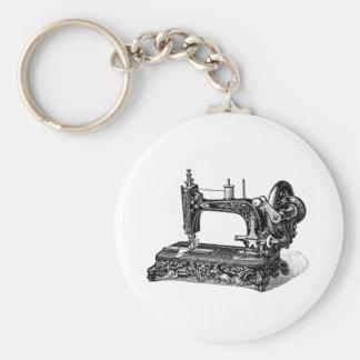 Ilustração da máquina de costura dos 1800s do vint chaveiro