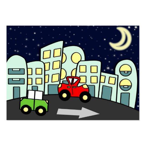 Ilustração da rua cartao de visita