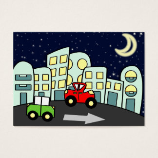 Ilustração da rua cartão de visitas