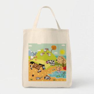ilustração das crianças bolsa de lona