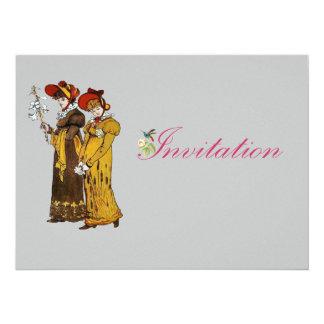 ilustração das senhoras do vintage 1800's convite