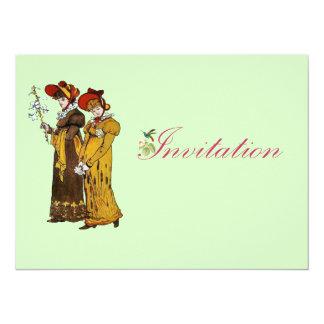 ilustração das senhoras do vintage 1800's convite personalizados