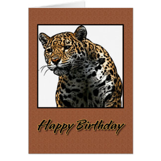 Ilustração de Jaguar do feliz aniversario Cartão Comemorativo