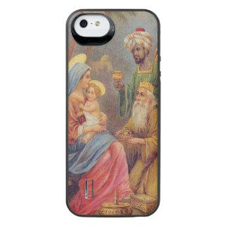 Ilustração de Jesus da natividade do vintage do Capa Carregador Para iPhone SE/5/5s
