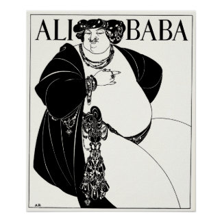 Ilustração de Nouveau da arte: Beardsley - babá de Poster