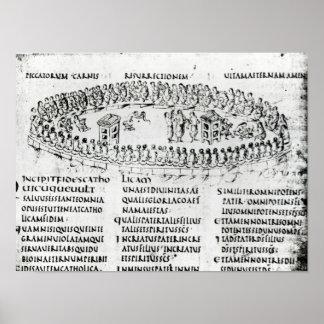 Ilustração de uma cena de um dos salmos poster