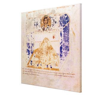 Ilustração de uma cópia do século VI Impressão De Canvas Esticada