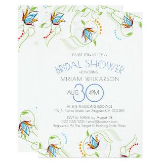 Ilustração delicada Wedding das aguarelas das Convite 12.7 X 17.78cm