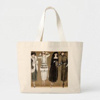 Ilustração do 1920 do Couture de Haute da queda Bolsas De Lona