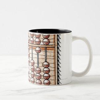 Ilustração do ábaco caneca de café em dois tons