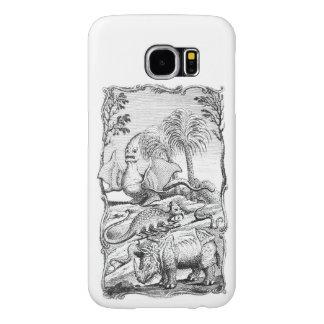 Ilustração do animal de Eroneous do vintage Capas Samsung Galaxy S6